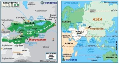 KyrgyzstanMap